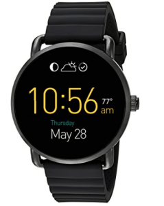 Fossil Q Wander Touchscreen Black Silicone Smartwatch at rs.9,306