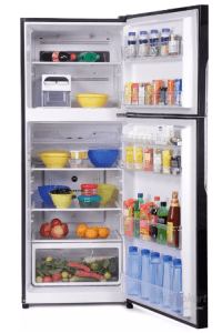 Hitachi 382 L Frost Free Double Door Refrigerator (R-VG400PND3- (GBK), Glass Black, 2016) at rs.36,299
