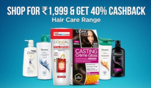 Paytm-Shop For Rs.1999 Or More and Get 40% Cashback On Everyday Essential