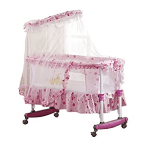 Amazon – Buy Toyhouse Baby Cradle with Rocking Function Pink at Rs.4,399