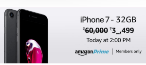 amazon apple iphone 7 at Rs 37499 only