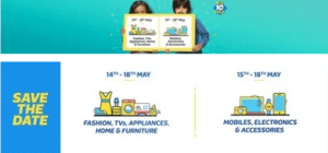 flipkart big10 sale datewise offers