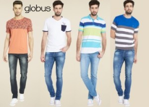 Tatacliq – Globus Men's tshirts & polo at Flat 70% Off From Rs. 179