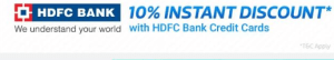 hdfc bank 10 instant discount in flipkart big10 sale