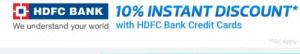 hdfc bank 10 instant discount in flipkart big10 sale