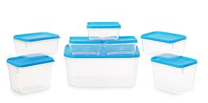 Amazon- Buy All Time Plastics Polka Container Set, Set of 8, Blue for Rs 99