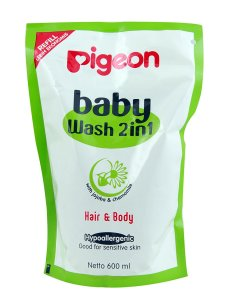 Amazon- Buy Pigeon BABY WASH 2IN1 600ML REFILL