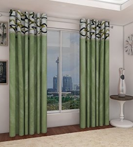 Amazon- Home Candy Attractive Polyester 2 Piece Door Curtain Set for Rs 299