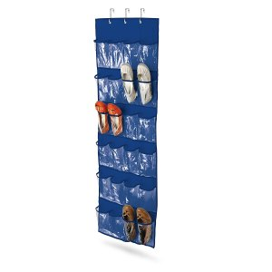 Honey-Can-Do Over The Door Clear Plastic Shoe Organizer-Storage Rack (Navy) for Rs 599