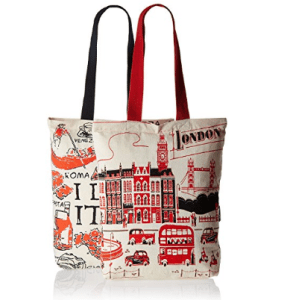 Kanvas Katha Women's Combo Tote Bag (Pack of 2) (Off-White) at rs.109