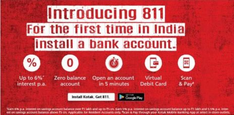 Kotak 811- Get Rs 300 Flipkart Voucher at Just Rs 3 only