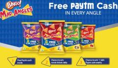 Paytm - Get upto Rs 10 Paytm Cash on each pack of Bingo! Mad Angles