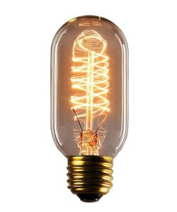 Starry Night T45 40W Vintage Antique Light Bulbs, Warm White, E26 Edison Tubular Style,Clear Glass,220-240 Volts,Filament Light Bulbs (1 Pack)