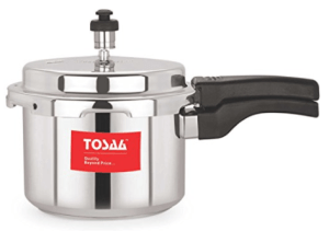 Tosaa Ultra Delux Aluminium Pressure Cooker, 3 Litres, Silver