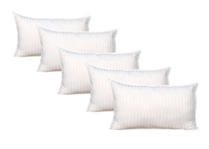 "Warmland 5 Piece Microfibre Pillow Set - 17""x27"", White at rs.699"