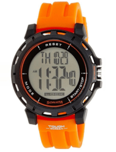 sonata-77037pp01 Ocean Series Orange Digital Watch at rs.1,170
