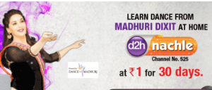 Videocon d2h – Khushiyon Ka Weekend Offer: Get d2h Nachle for Re.1 for 30 days