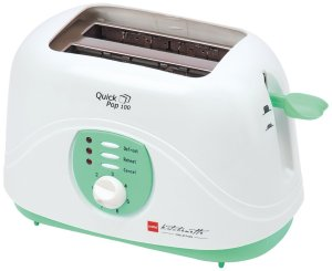 Amazon- Buy Cello Quick Pop Up 100 , 2 Slice Toaster , Green White for Rs 949 only