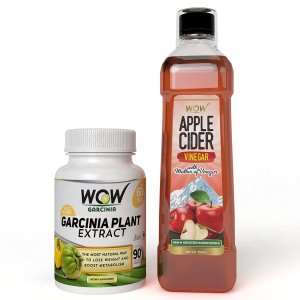 Amazon- Buy WOW Garcinia Cambogia with free WOW Apple Cider Vinegar for Rs 1199