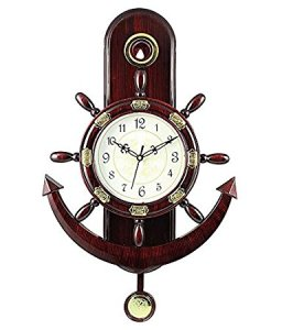 Altra Plastic Pendulum Wall Clock (45 cm x 30 cm x 5 cm, Brown) for Rs 374