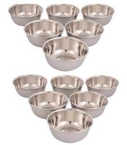 Classic Essentials stainless steel veg bowl