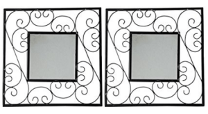 Amazon – Buy Hosley Decorative Square Iron Wall Mirror Set of 2 at Rs.397 only