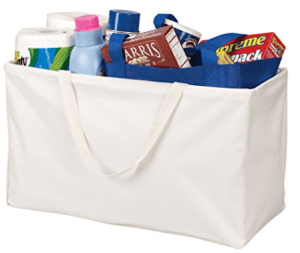Household Essentials Krush Canvas Tote Bag, White