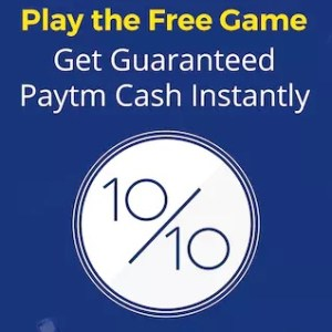 (MUST TRY) PayTM- Play for FREE and win Rs 5 Paytm Cash (Super Easy)