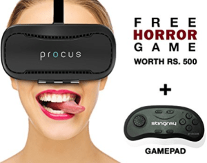 Procus BRAT Virtual Reality Headset + Free Horror Game at Rs 1710 only