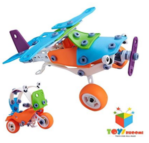 Toys Bhoomi 2 IN 1 Take-Apart 3D Model Airplane & Motorcycle Assembly at rs.1,000