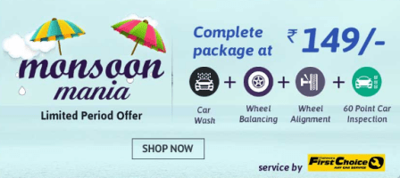 Droom : Monsoon mania offer – Complete Car package at Rs.149 only