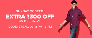 jabong get flat Rs 300 off on men fashion products