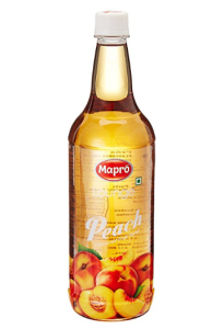 Roll over image to zoom in Mapro Peach Flavoured Fruit Syrup, 1L at rs.270