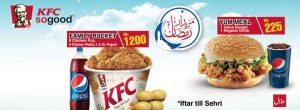 KFC Ramadan Deals 2013 Iftar / Sehri