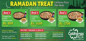 California Pizza Karachi Iftar Deals 2014 Ramadan