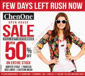 ChenOne Sale September 2015