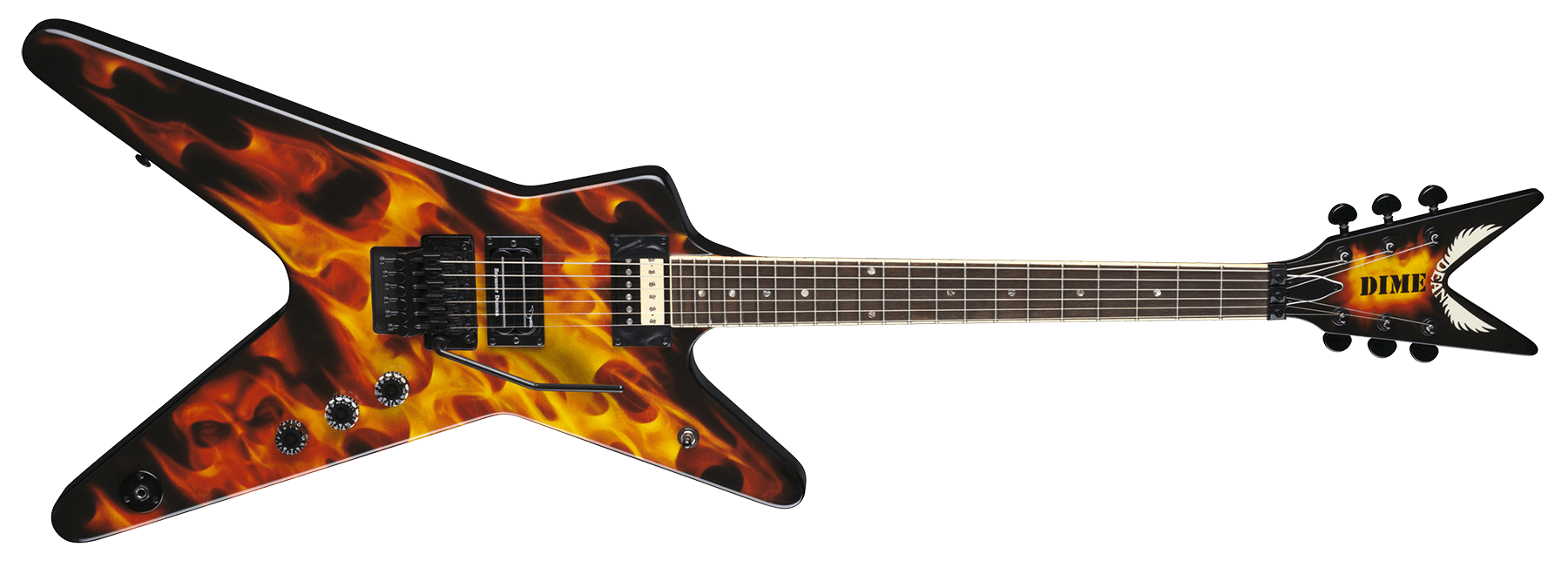Black Dot Wallpaper Dimebag Dime O Flame Ml Dean Guitars