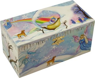 39winter Beauty39 Story Book Musical Treasure Box From Music