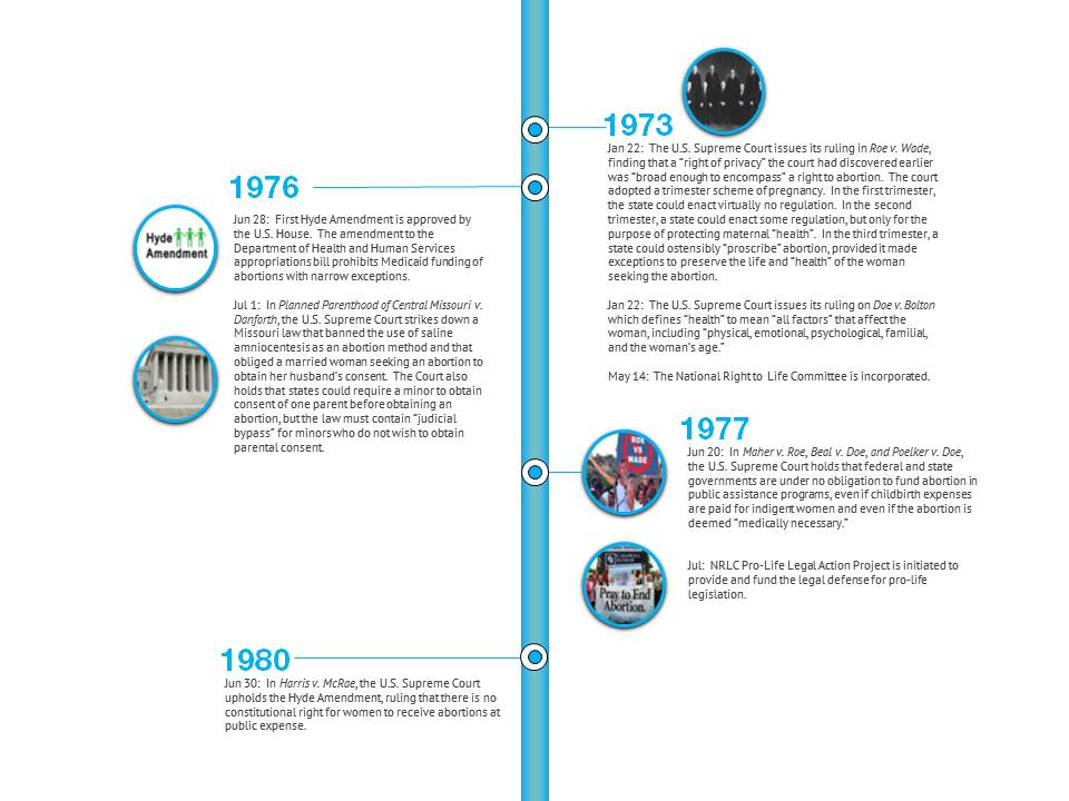 Abortion Time Line Graphic based on NRLC data