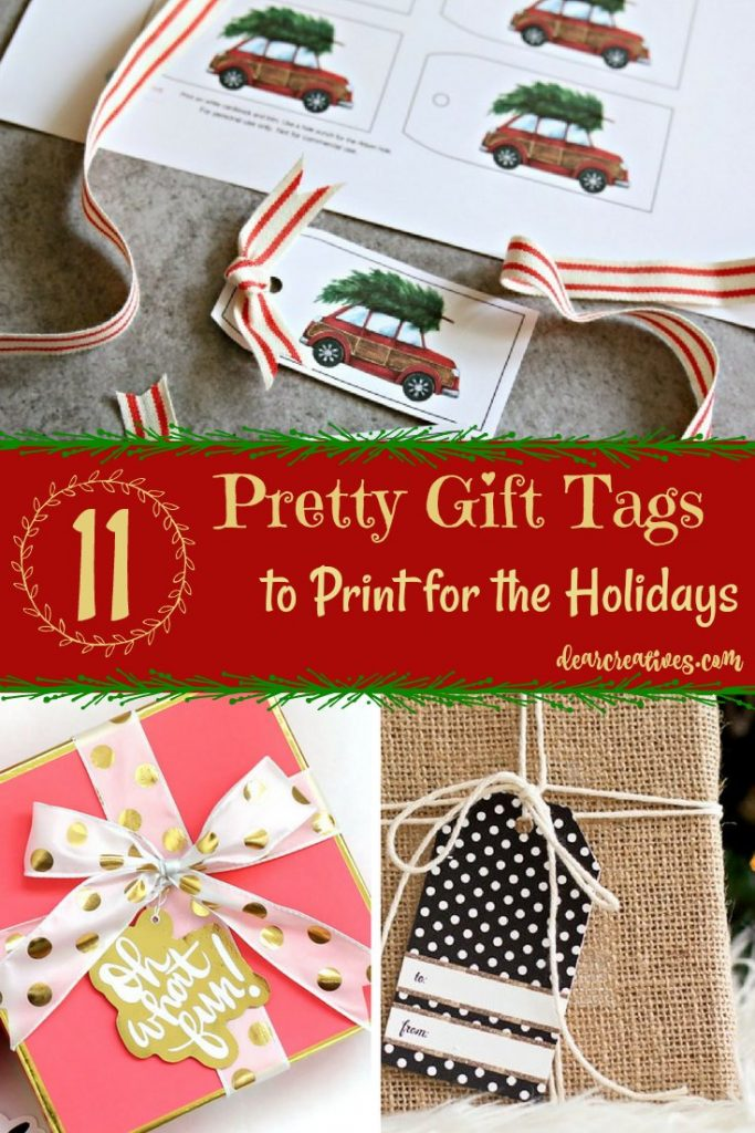 Free Printable Christmas Holiday Gift Tags to Print for Your Gifts