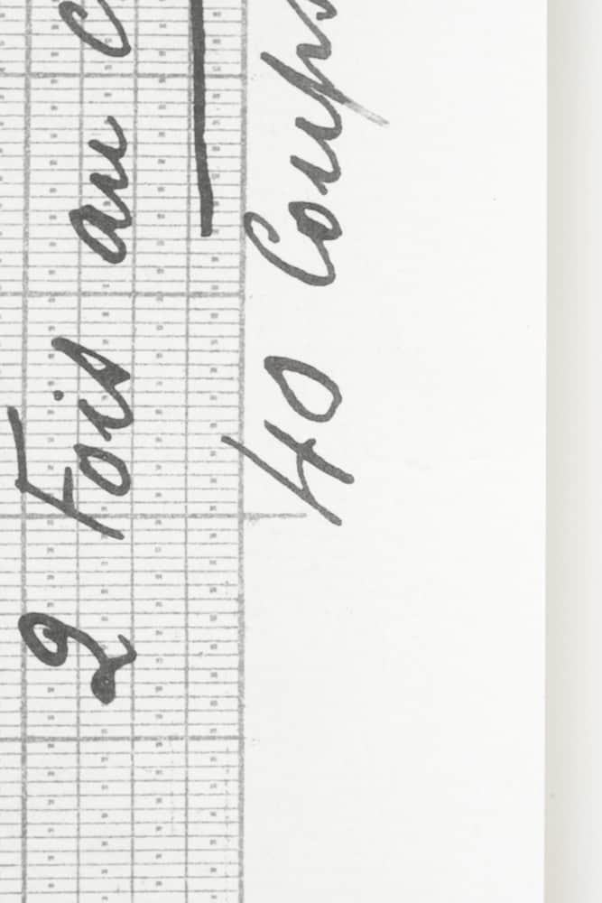 Asymmetrical Grid Paper sample - Deborah Bowness