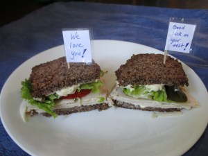 Meaningful Message Sandwich with Fermented Pickles