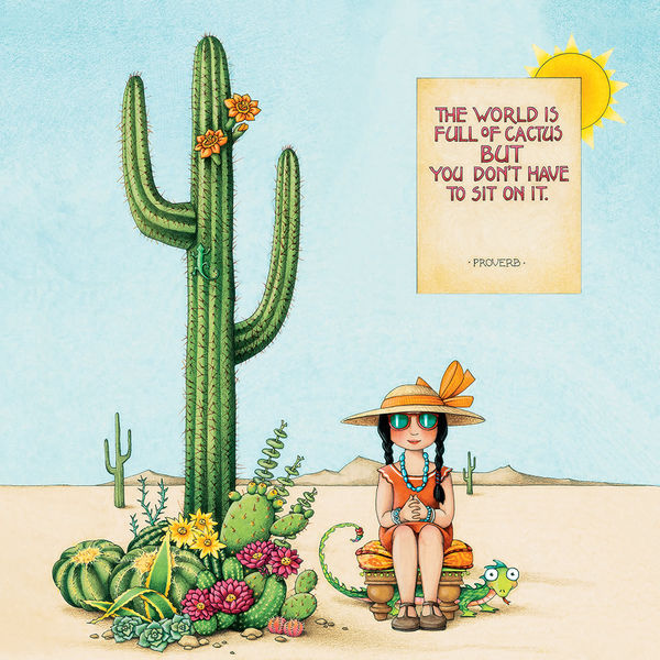 Wallpaper Girl Quotes Cactus By Mary Engelbreit Decalgirl