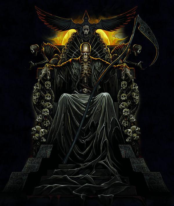 Angel Girl And Skulls Wallpaper Death Throne By Abrar Ajmal Decalgirl