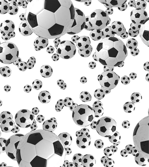 Girl In Woods Wallpaper Lots Of Soccer Balls By Sports Decalgirl