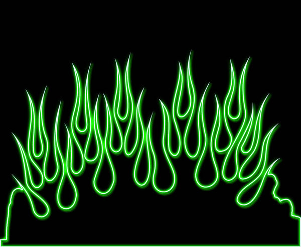 Create Your Own Iphone Wallpaper Green Neon Flames Decalgirl