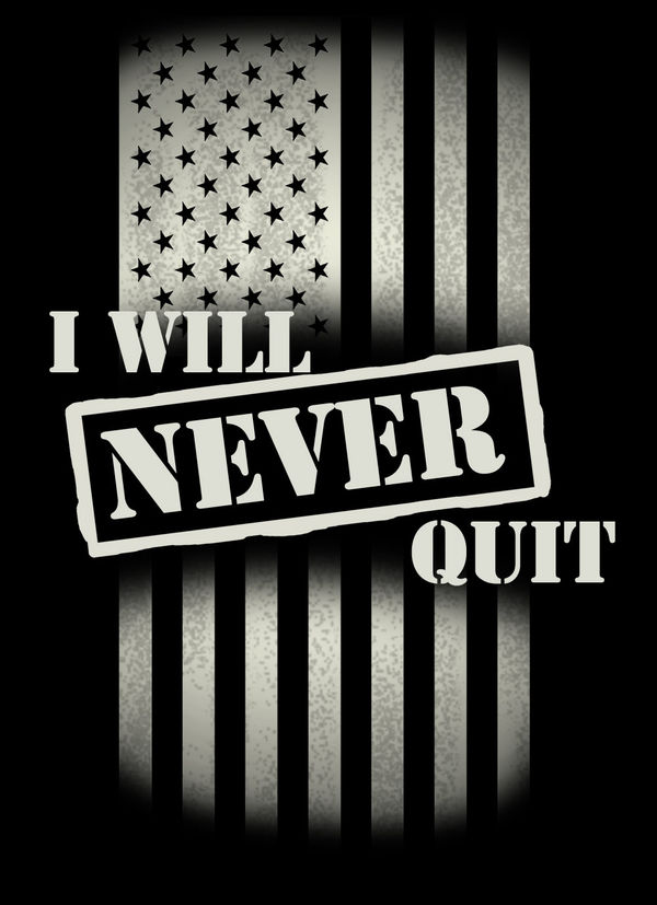Game Quotes Wallpaper Never Quit By Us Army Decalgirl