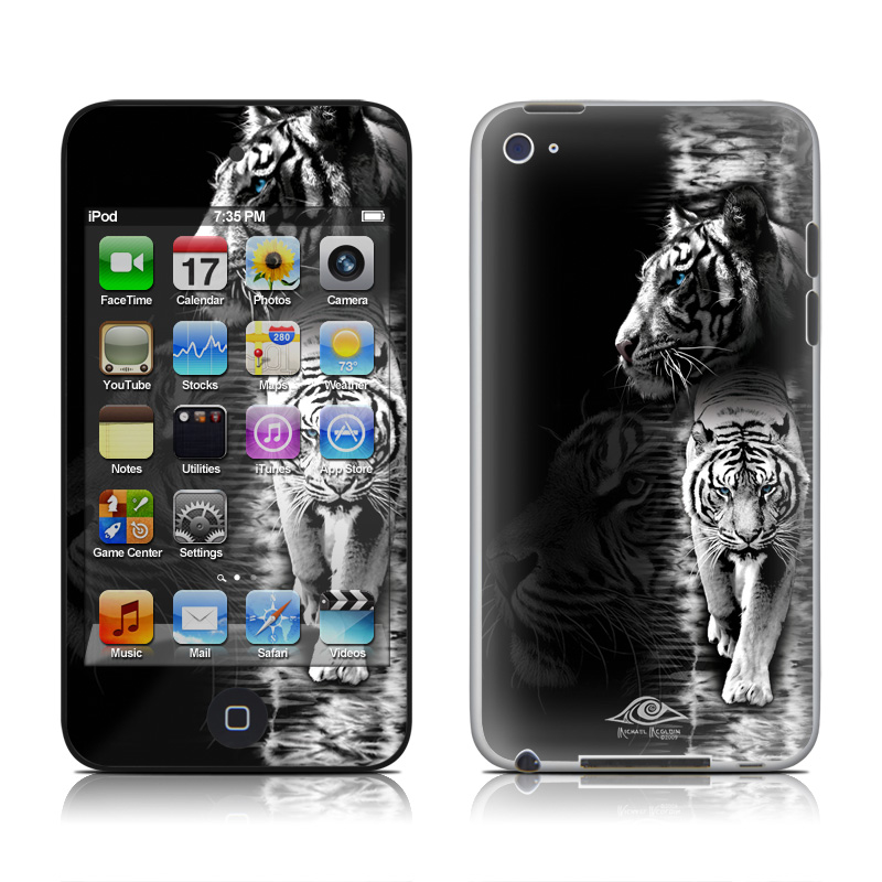 Wallpaper Gaming Girl Ipod Touch 4g Skin White Tiger By Michael Mcgloin