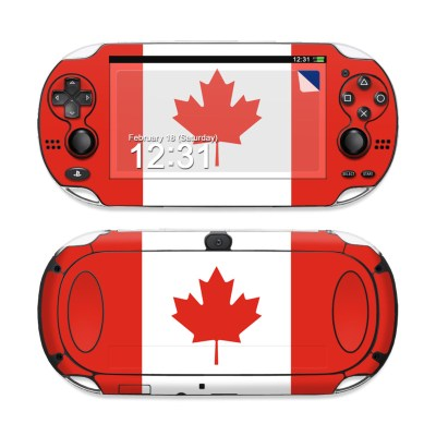 Sony PS Vita Skin - Canadian Flag by Flags | DecalGirl