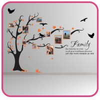 FAMILY TREE BIRD ART WALL STICKERS QUOTES DECALS FT1 | eBay